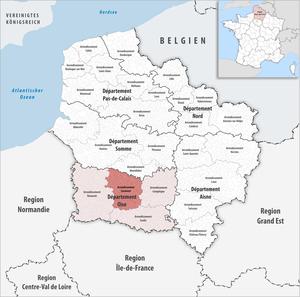 Arrondissement of Clermont - Image: Locator map of Arrondissement Clermont