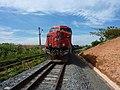 Locomotiva de comboio parado sentido Boa Vista na Variante Boa Vista-Guaianã km 230 em Indaiatuba - panoramio.jpg