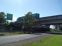 Motorway bridge at Loganlea, 2013