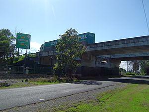 Logan Motorway - Motorway bridge at Loganlea, 2013