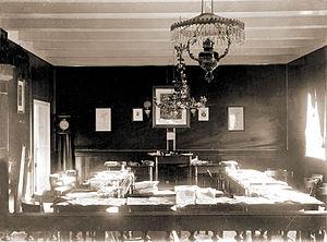 Løgting - Løgting hall about 1900.