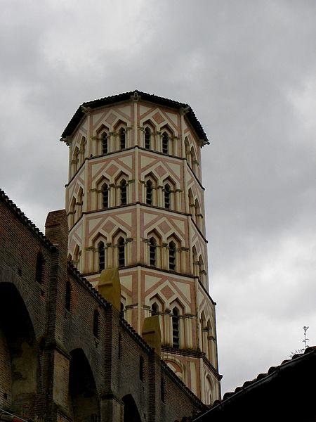 Cathédrale Sainte-Marie de Lombez (32). Tour-clocher.