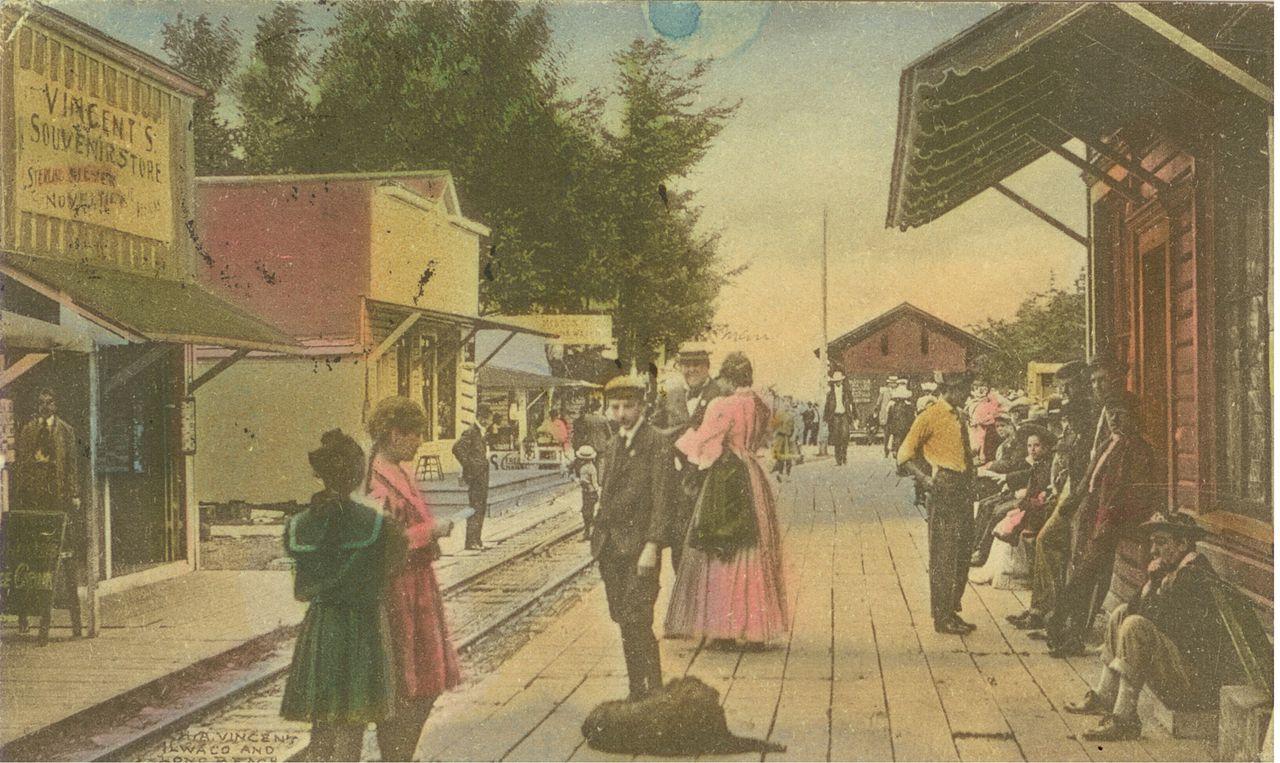 File Long Beach Wa Rubberneck Row 1909 Jpg Wikimedia
