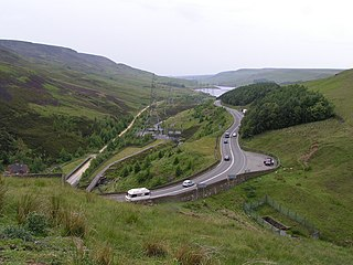 Longdendale village in the United Kingdom