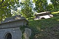 Looking WSW at upper level - Rock Creek Section mausoleum overlook - Oak Hill Cemetery - 2013-09-04.jpg