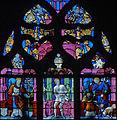 Louviers - Eglise Notre-Dame - Vitrail avec saints antipesteux - saint Sébastien saint Roch (baie n°28).jpg