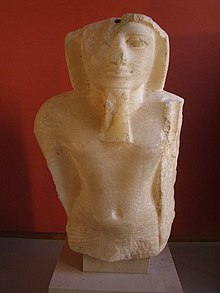 Statue of Merenptah on display at the Egyptian Museum.