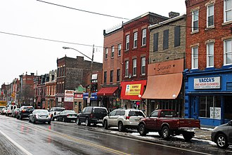Bloomfield (Pittsburgh) - View of Liberty Avenue in Bloomfield.