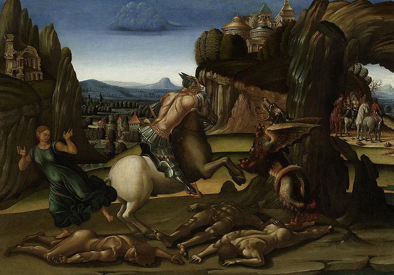 Archivo: Luca Signorelli - Sint Joris en de draak.jpg
