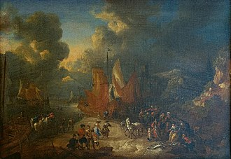 Pieter Bout - Image: Lucas Smout the Younger and Pieter Bout Harbour and Fish Market