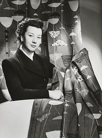 Lucienne Day - Lucienne Day in New York with Calyx, 1952