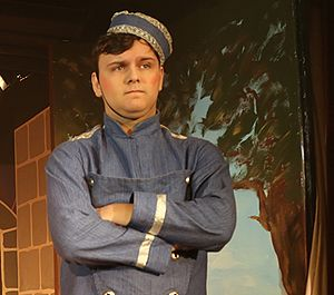 Buttons (pantomime) - An actor playing Buttons in a 2015 pantomime in Herne Bay, England