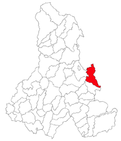 Location of Lunca de Jos