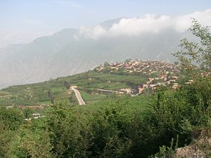 Qionglai Mountains - A mountain village near Wenchuan, in the southern part of the range