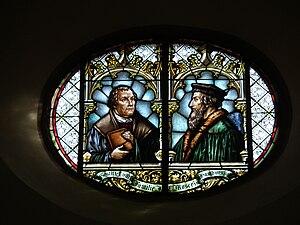 Deutsch: Darstellung von Luther und Calvin in ...