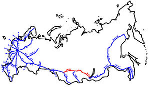 R255 highway (Russia) - Image: M53 karte RF