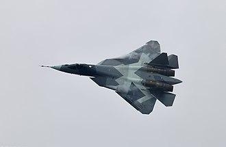 MAKS Air Show - Sukhoi Su-57 prototype at MAKS-2013.