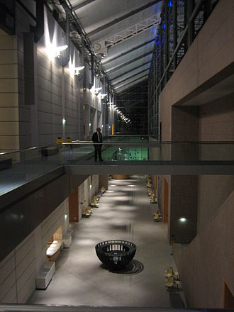 Strasbourg Museum of Modern and Contemporary Art - Interior view at night