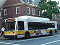 MBTA route 1 bus on Mass Ave at Holyoke Gate, September 2014.jpg