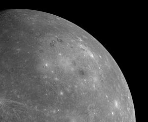 Caloris Planitia - Image: MESSENGER first photo of unseen side of mercury cropped to Caloris