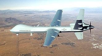 Baghar China airstrike - Image: MQ 9 Reaper in flight 2
