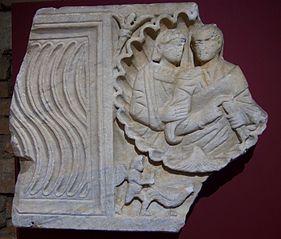 Cuve de sarcophage aux époux