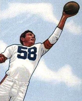 Mac Speedie - Speedie on a 1950 Bowman football card