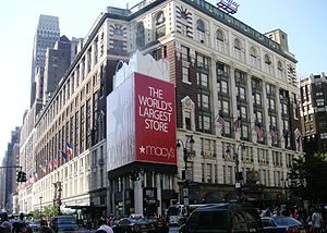"34th Street (Manhattan) - Between 7th Avenue and Broadway is Macy's, which advertises itself as the ""world's largest department store."""