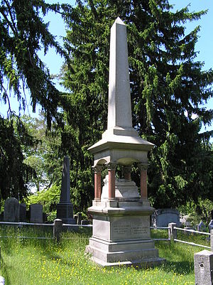 Madame Restell - The burial site of Madame Restell in Sleepy Hollow Cemetery