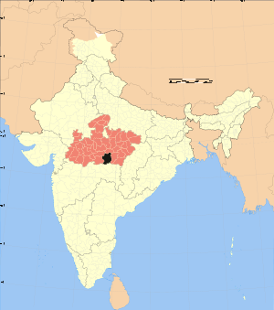 Madhya Pradesh district location map Chhindwara.svg