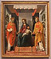 Madonna e Bambino tra i santi Faustino e Giovita o Pala dei mercanti (Vicenzo Foppa) - Pinacoteca Tosio Martinengo - Brescia (ph Luca Giarelli).jpg