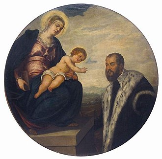 Tintoretto - Madonna with Child and Donor, National Museum of Serbia, Belgrade
