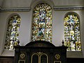 Magnificent stained glass window within St Vedast alias Foster - geograph.org.uk - 922060.jpg