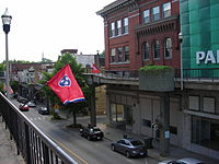 Main Street in Morristown, Tennessee, From the Skywalk.JPG