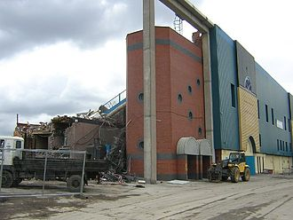 Maine Road - Maine Road Football Ground being demolished
