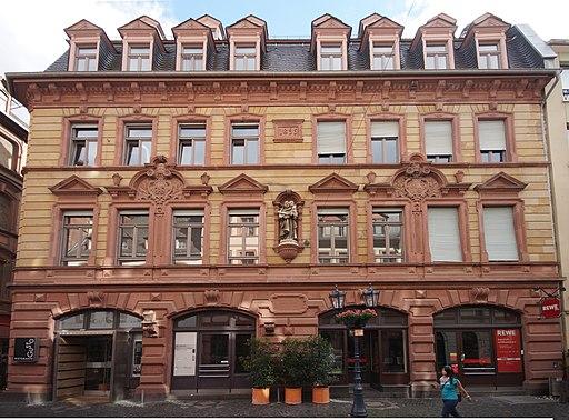 Mainz- Augustinerstraße- Fassade der Hausnummer 55 (Frankfurter Hof)