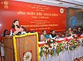 Maneka Sanjay Gandhi delivering the inaugural address at the All India Regional Editors Conference, organised by the Press Information Bureau, at Jaipur. The Minister of Social Justice & Empowerment and Minority Affairs.jpg