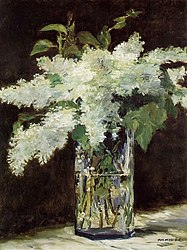 Édouard Manet: White Lilacs in a Glass Vase