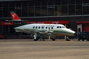 Manx Airlines - Manx Airlines BAe Jetstream 31 at Dublin Airport in 1993.