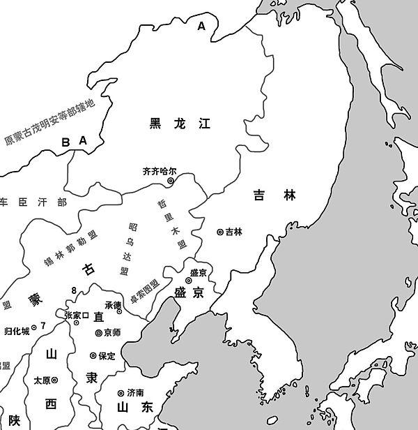 民国时期以松花江为界