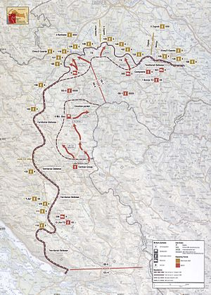 Saborsko massacre - Image: Map 5 Croatia Banija Kordun Lika Operations October 1991 January 1992