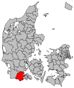 Aabenraa Municipality - Location of Aabenraa municipality