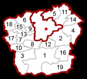 Klagenfurt-Land District - Image: Map at carinthia klagenfurt land municipalities