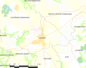 Nogaro - Nogaro and its surrounding communes