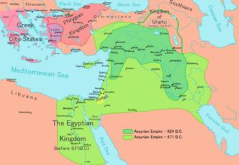 English: Map of the Assyrian Empire Português:...