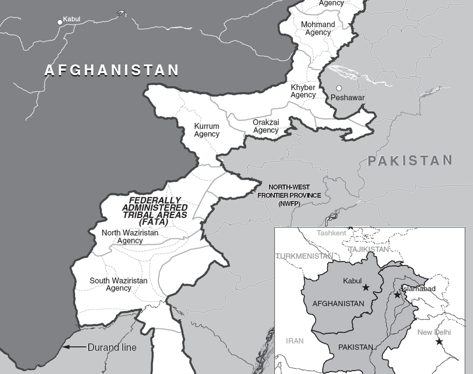 Map of FATA in Pakistan