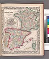 Map of France, Spain, and Portugal; Switzerland in cantons (inset); Island of Corsica (inset) (NYPL b13663520-1510829).jpg