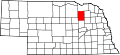 Map of Nebraska highlighting Antelope County.svg