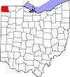State map highlighting Williams County