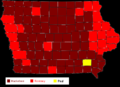 Map of Results of Iowa Republican Caucuses (2008).png